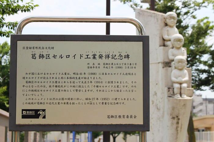 葛飾区セルロイド興業発祥記念碑